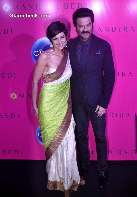 Mandira Bedi with Anil Kapoor at her Signature Store Launch