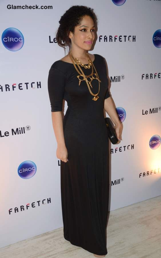 Masaba Gupta in Black Gown at Le Mill Store Launch