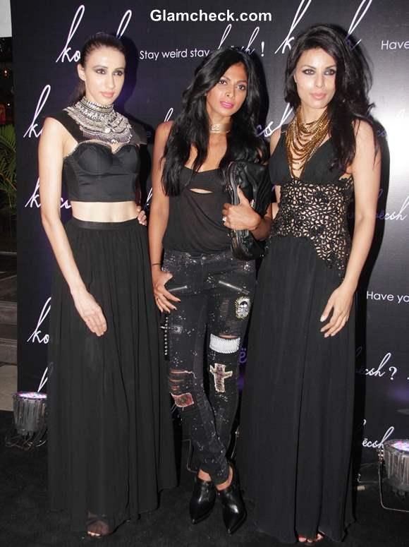 Model Aleshia Raut Nina Manuel and Dipti Gujral 2013 at Koecsh Launch Party