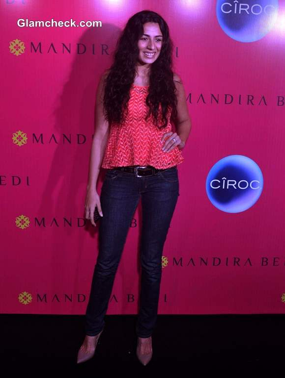 Model Pia Trivedi at Mandira Bedi Signature Store Launch