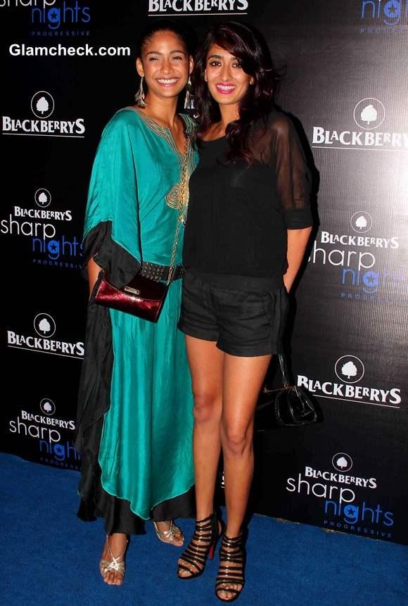 Models Carol Gracias and Binal Trivedi at Blackberry Sharp Night