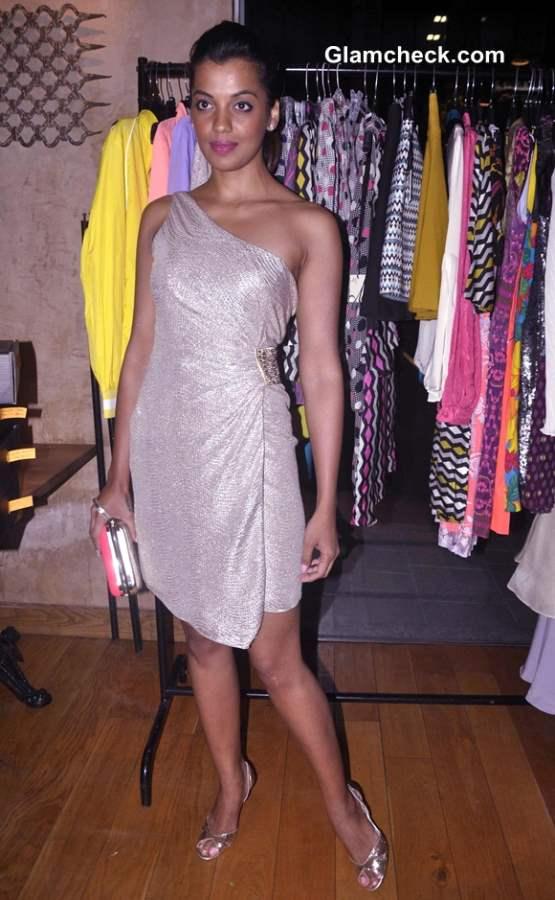 Mugdha Godse in One-Shoulder Dress