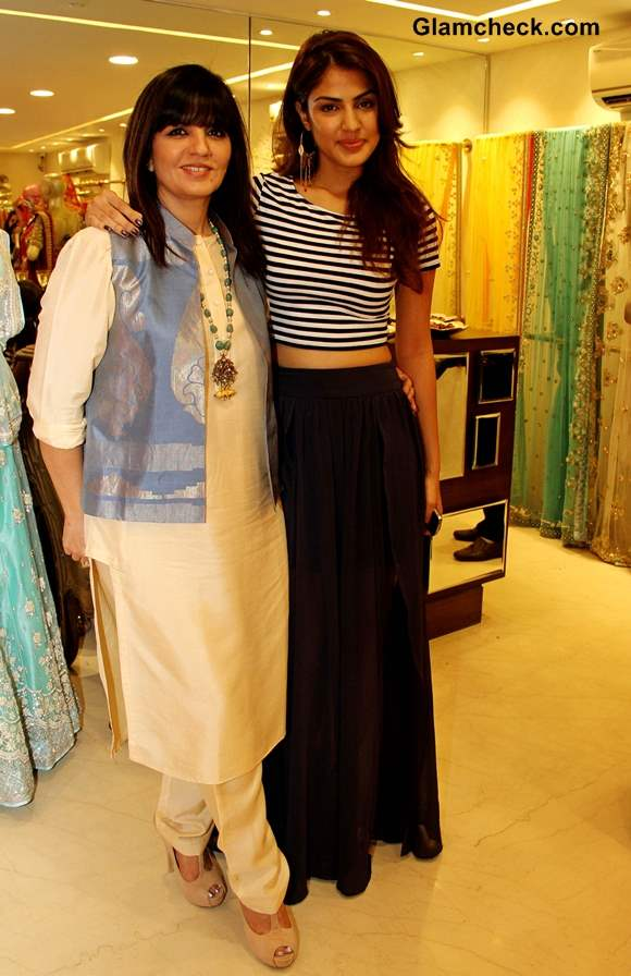 Neeta Lulla with Rhea during the preview of her 2013 bridal collection