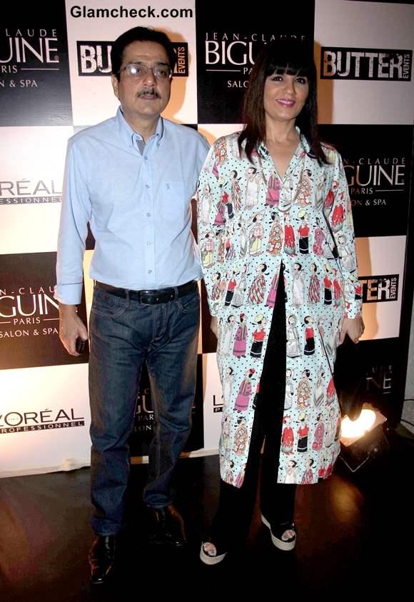 Neeta Lulla with her husband Shyam Lulla at Jean-Claude Biguine Salon Anniversary