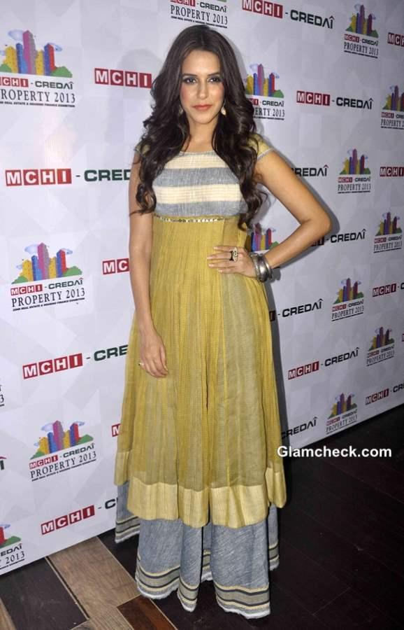 Neha Dhupia in Fusion Outfit at Mumbai Property Exhibition