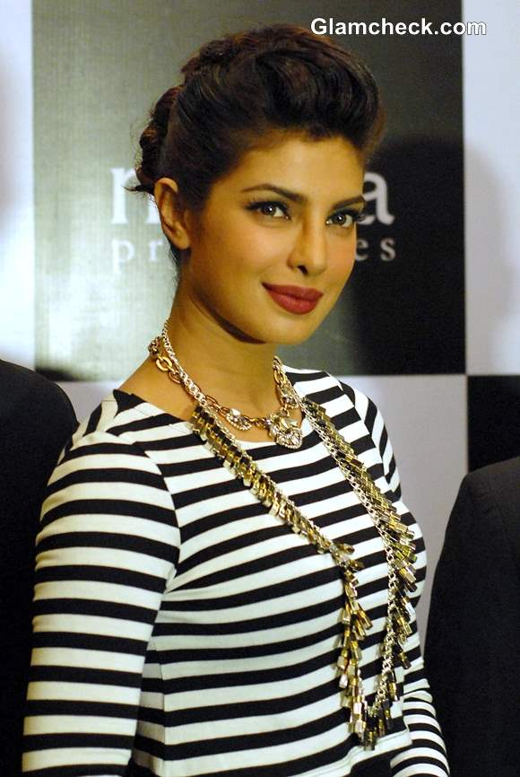 Priyanka Chopra Exudes Sexy Elegance in Monochrome Outfit