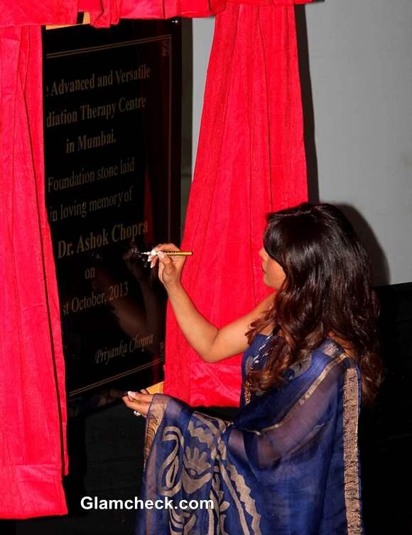 Priyanka Chopra Inaugurates Cancer Ward 2013  in Late Fathers Memory