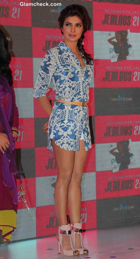 Priyanka Chopra in White Hot Pants and Shirt at Exotic Celebration
