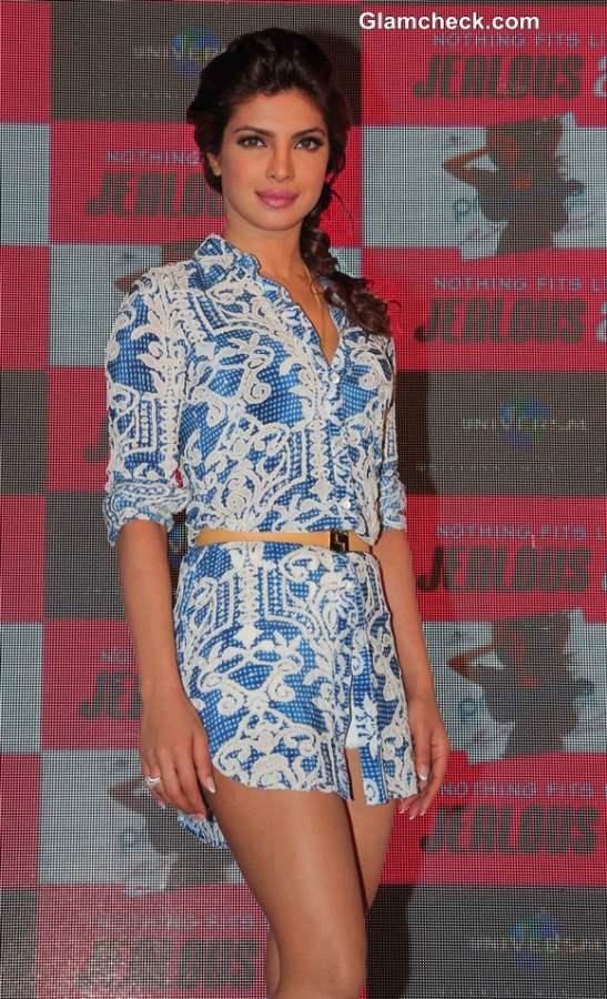 Priyanka Chopra in White Hot Pants at Exotic Celebration