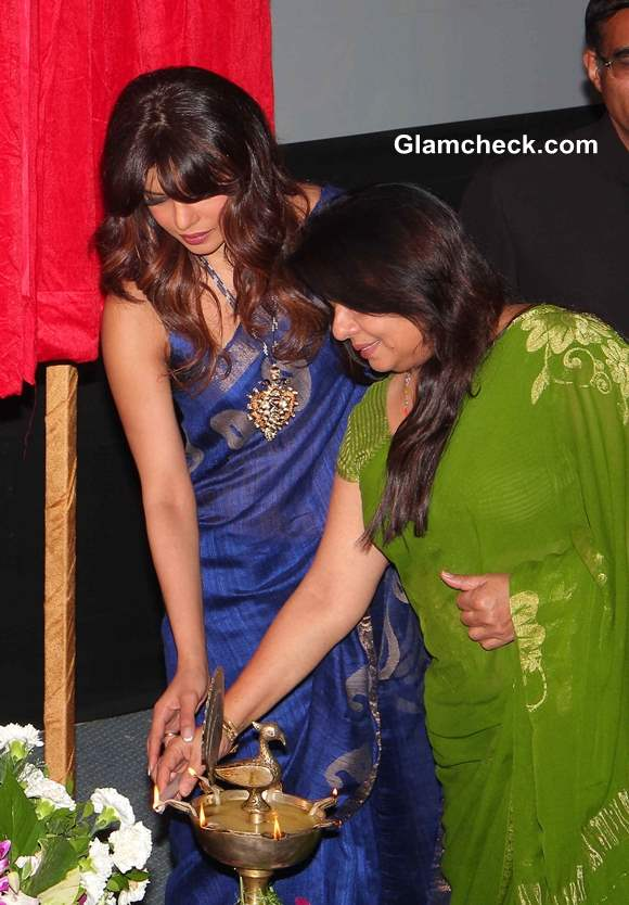 Priyanka Chopra with her mother  Inaugurates Cancer Ward in Late Fathers Memory