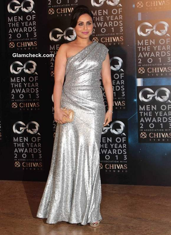 Rani Mukherjee Silver Gown GQ Man of the year Awards 2013