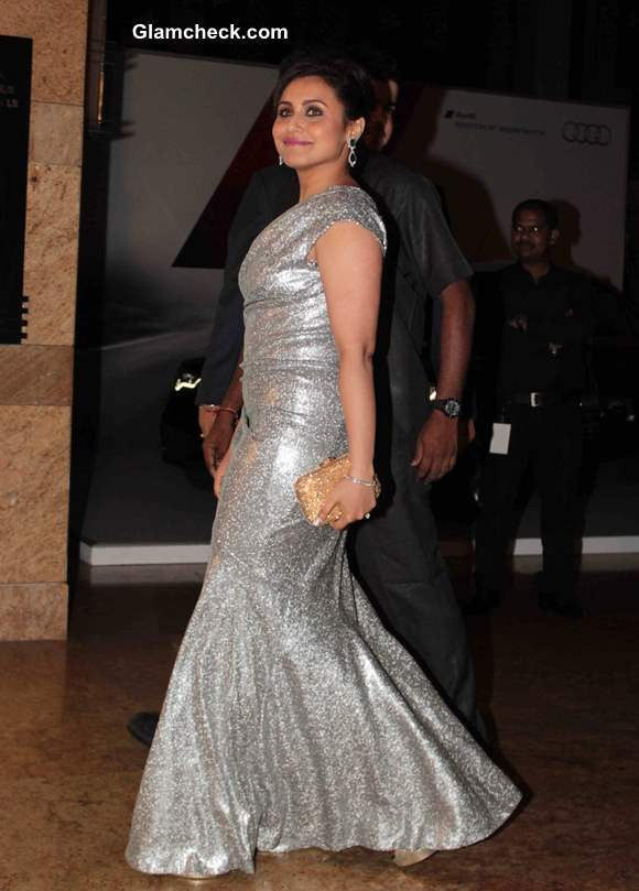 Rani Mukherjee in Silver Gown GQ Man of the year Awards 2013