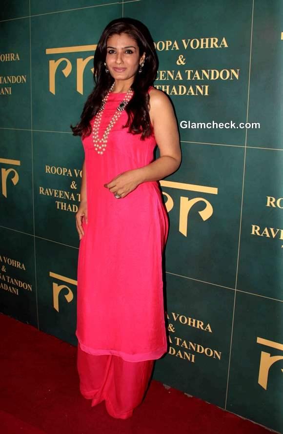 Raveena Tandon  at Raveena and Roopa Jewellery Line Launch