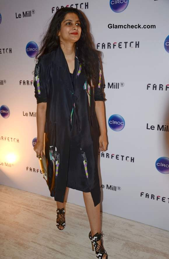 Rhea Kapoor in Blue Dress at Le Mill Store Launch