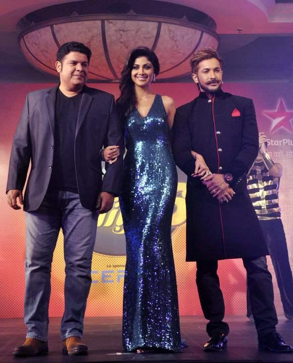 Sajid Khan Shilpa Shetty and Indian dance Choreographer Terence Lewis at Season 6  Nach Baliye