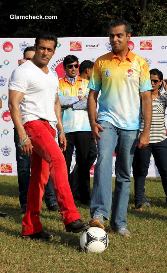 Salman Khan 2013 Commemorates Junior Soccer Challenger
