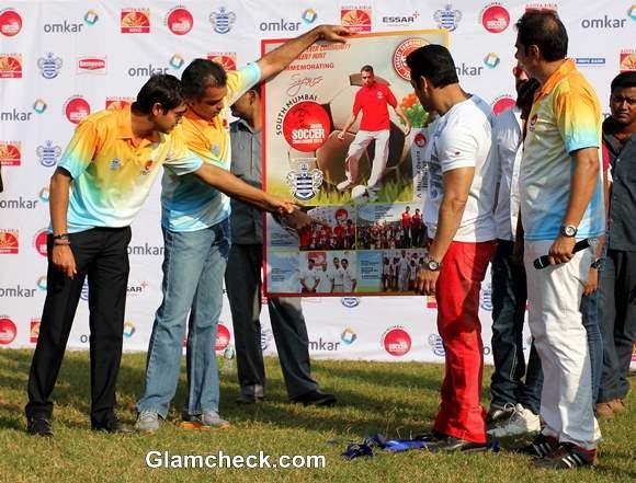 Salman Khan 2013 Junior Soccer Challenger