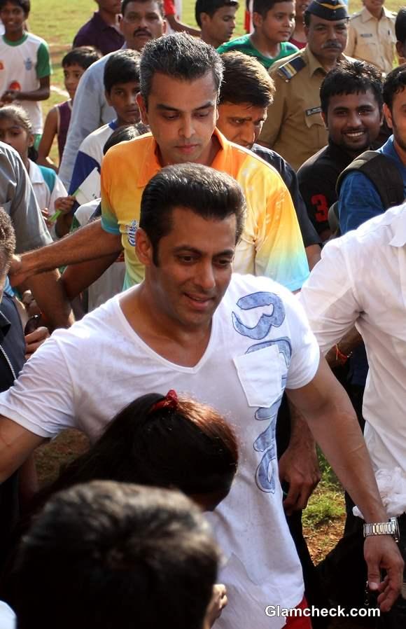 Salman Khan for Junior Soccer Challenger
