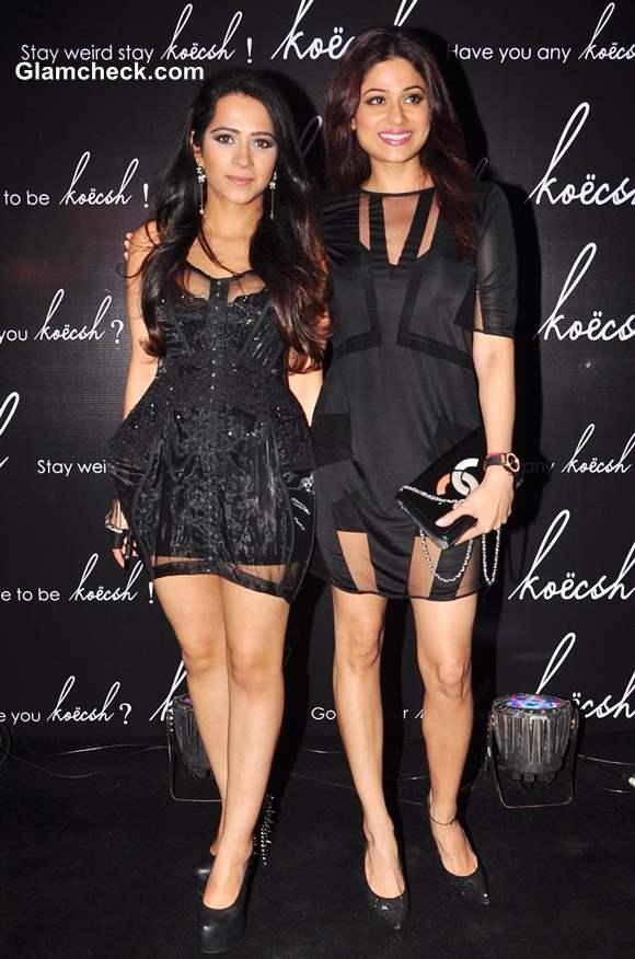 Shamita Shetty with Kresha Bajaj at Koecsh Launch Party