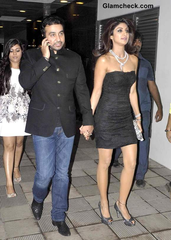 Shilpa Shetty and Raj Kundra at Book Success Party