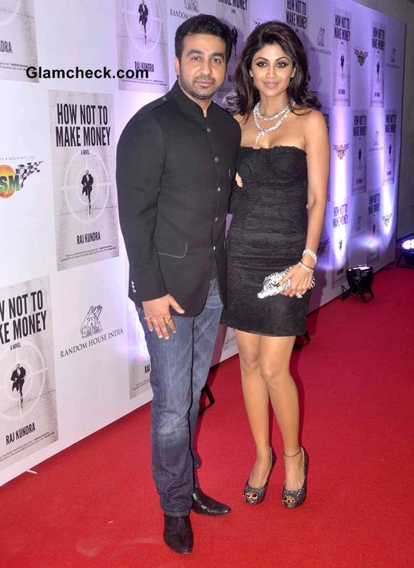 Shilpa Shetty and Raj Kundra at How Not To Make Money Book Success Party