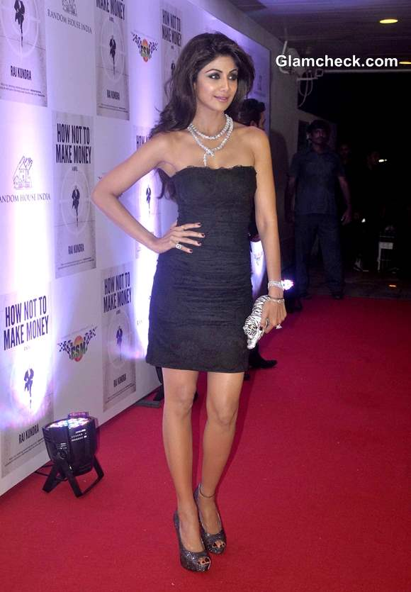 Shilpa Shetty in Dolce and Gabbana Dress Hubby Book Success Party