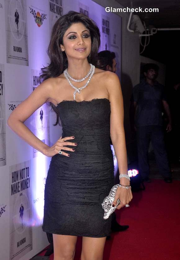 Shilpa Shetty in Dolce and Gabbana Dress at Hubbys Book Success Party