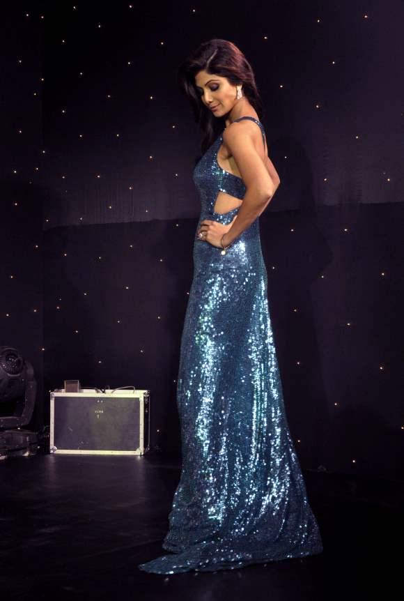 Shilpa Shetty in Shimmery Blue Gown at Season 6  Nach Baliye Launch