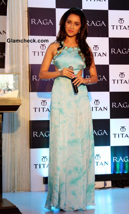 Shraddha Kapoor in Cut-out Gown at Titan Raga Event