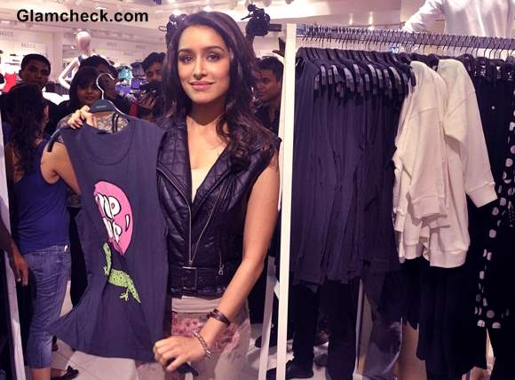 Shraddha Kapoor in Floral Pants at Forever 21 Store Launch Pictures