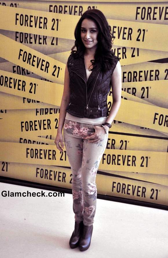 Shraddha Kapoor in Floral Pants at Forever 21 Store Launch