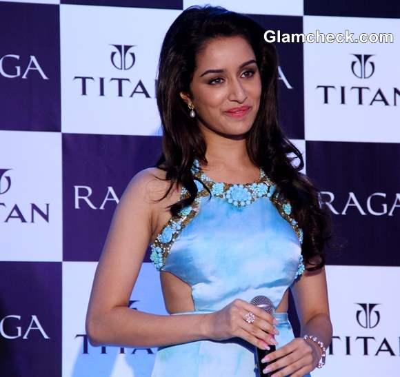 Shraddha Kapoor in Sonaakshi Raaj Cut-out Gown at Titan Raga Event