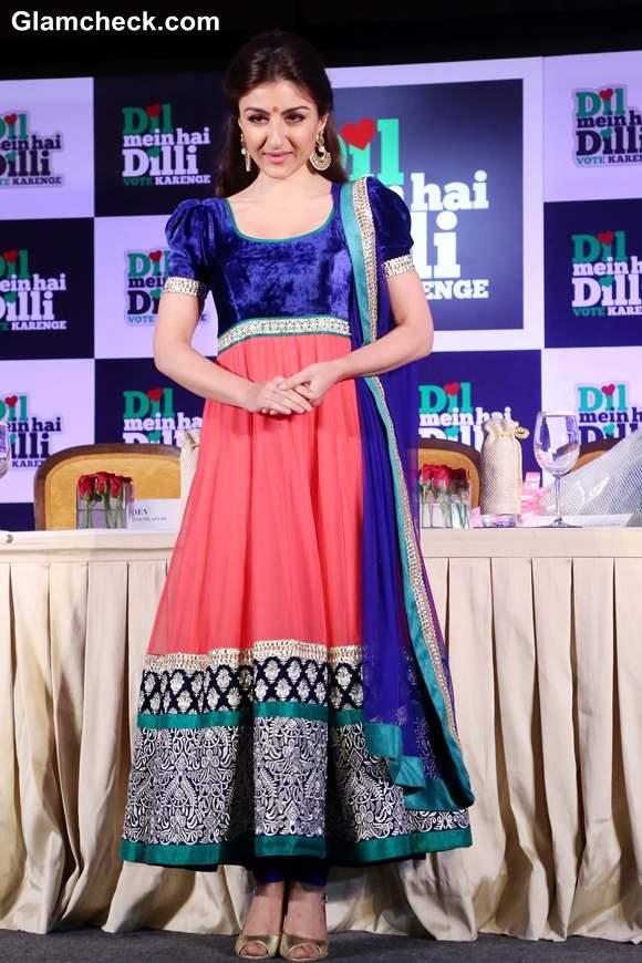 Soha Ali Khan in Anarkali Suit 2013