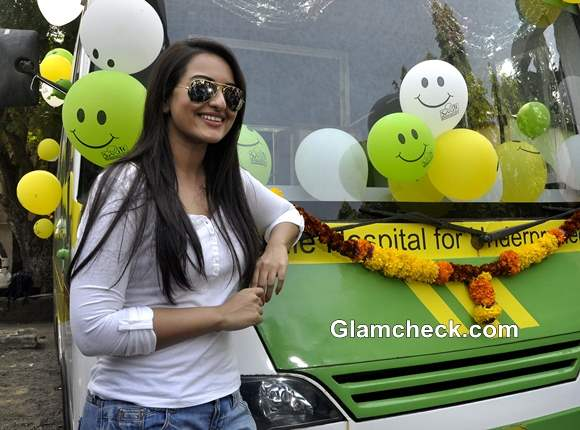 Sonakshi Sinha Launches Smile Foundations Mobile Hospital Programme
