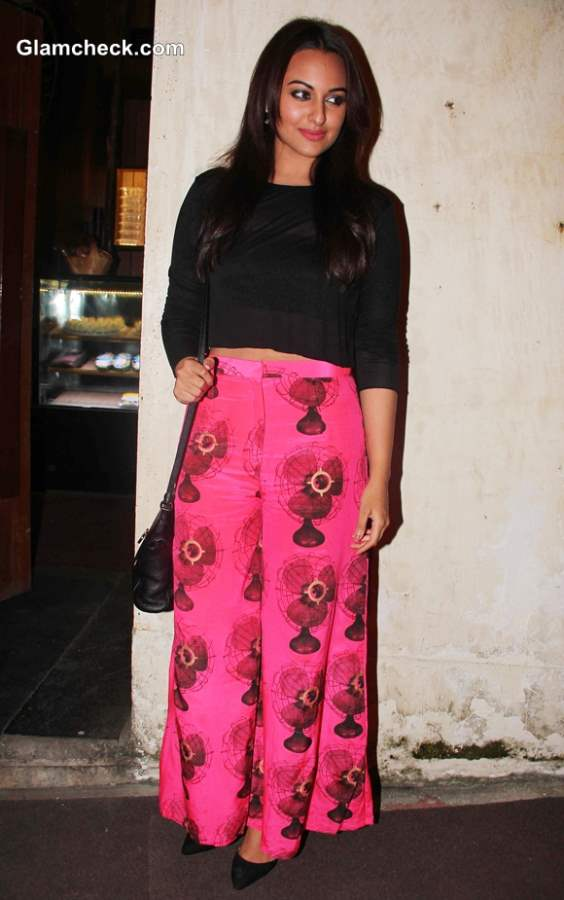 Sonakshi Sinha In Cropped Top And Palazzo Pants At R