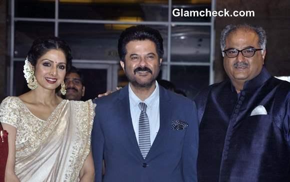 Sridevi Boney Kapoor Anil Kapoor 2013 at Yash Chopra Memorial Award