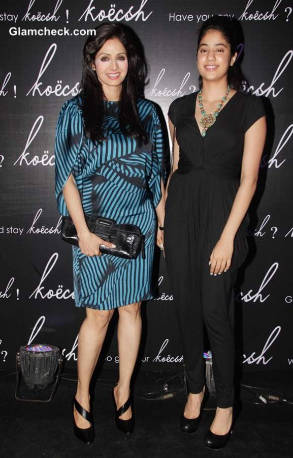 Sridevi with her daughter Janhavi at Koecsh Launch Party