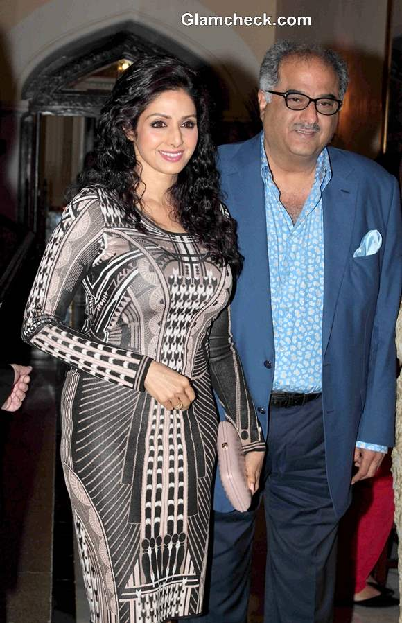 Sridevi with husband Boney Kapoor 2013 pictures