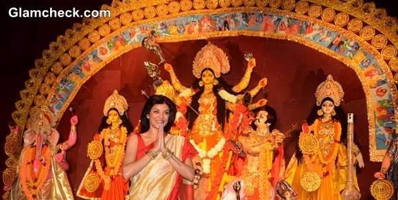 Sushmita Sen Durga Puja 2013 Celebrations