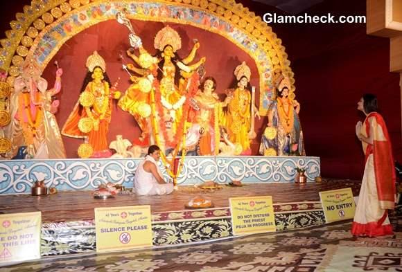 Sushmita Sen for Durga Puja 2013 Celebrations