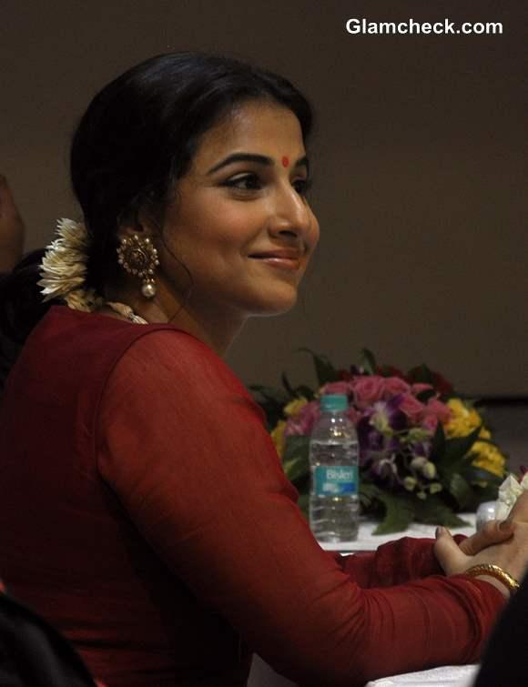 Vidya Balan 2013 Inaugurates Ranka Jewellers Store in Red Salwar Kameez