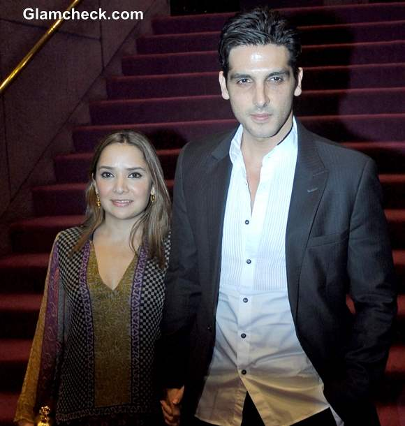 Zayed Khan along with his wife Mallika pictures