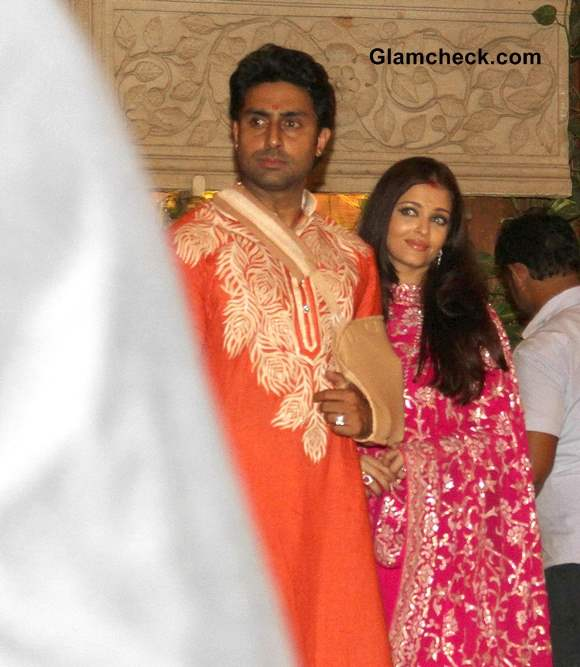 Abhishekh and Aishwarya Bachchan Diwali Party 2013