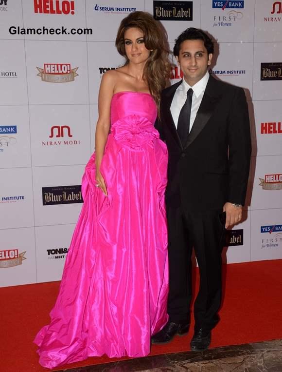 Adar Poonawala with wife Natasha Poonawala at Hello Magazine Awards 2013
