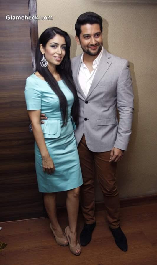 Aftab Shivdasani with girlfriend Nin Dusanj at Cover Launch of Mandate Magazine