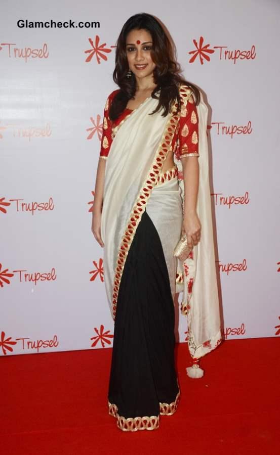 Amrita Puri in sari at Trupsel Store Launch