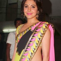 Anushka Sharma in Sari 2013 pictures
