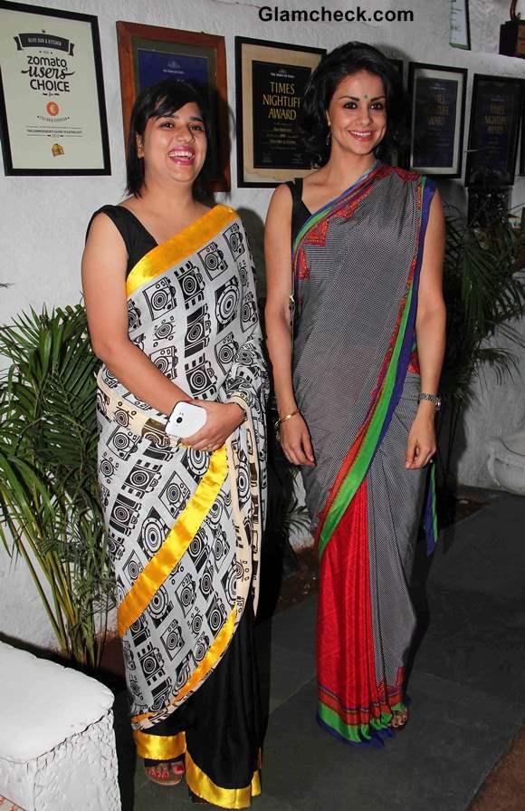 Author Aditi Mathur Kumar with Gul Panag