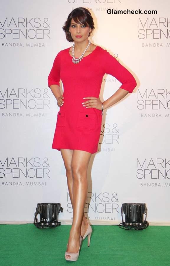 Bipasha Basu in Pink Dress at Marks  Spencer Store Opening in Mumbai