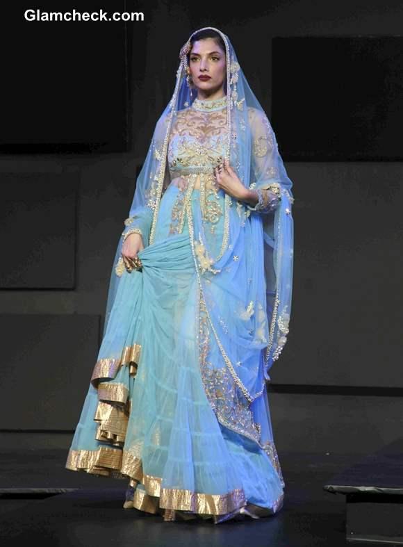 Blue Lehenga by Suneet Varma